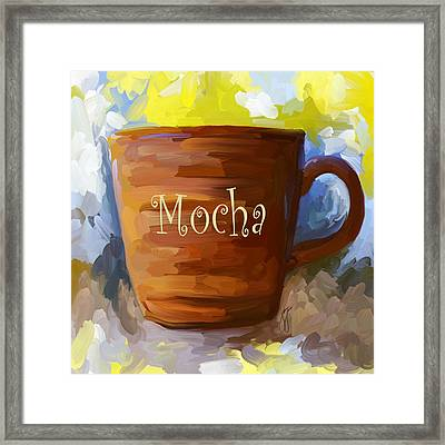 Mocha Coffee Cup Framed Print
