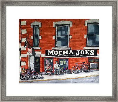 Mocha Joe's Framed Print
