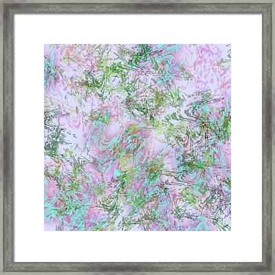 Mock Floral Purple Teal Framed Print