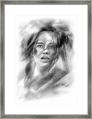Mockingjay - Katniss Everdeen Framed Print by Michael George Escolano