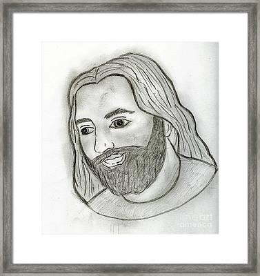 Mod Jesus Framed Print by Sonya Chalmers