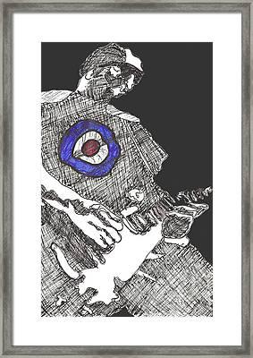 Mod Target Framed Print