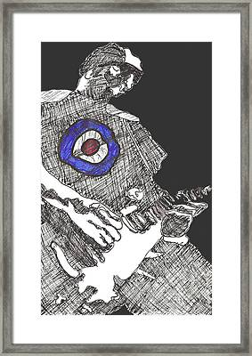Mod Target Framed Print by David Fossaceca