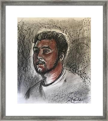 Model 1 Framed Print by Alejandro Lopez-Tasso