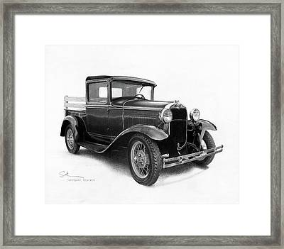 Model A Framed Print by Christopher Bracken