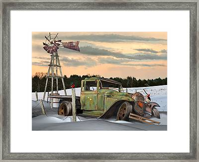 Model A Flatbed Framed Print by Stuart Swartz