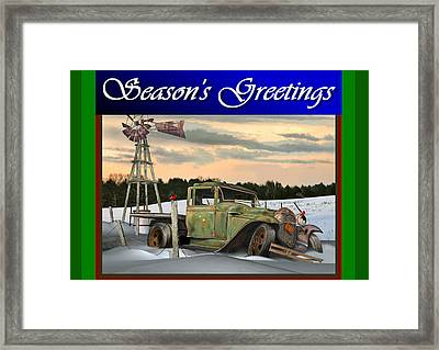Model A Season's Greetings Framed Print by Stuart Swartz