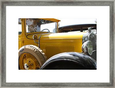 Model A With Quail Framed Print by Jonathan Kotinek