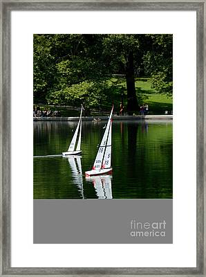 Model Boats Central Park New York Framed Print