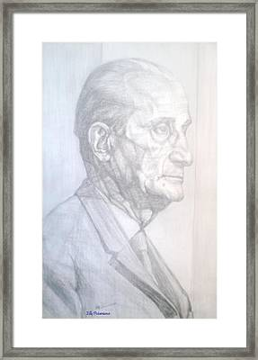 Framed Print featuring the drawing Model by Elly Potamianos