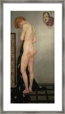 Model Framed Print by Emil Orik