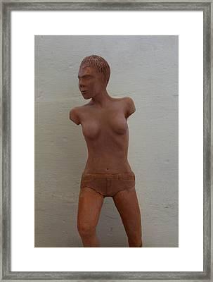 Model Female Nude.01 Framed Print by Ray Agius