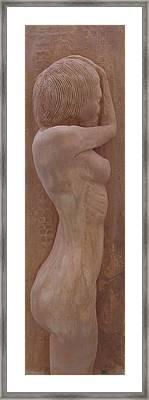 Model Female Nude.02 Framed Print by Ray Agius