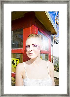 Model In Lace Makeup Framed Print by Jorgo Photography - Wall Art Gallery