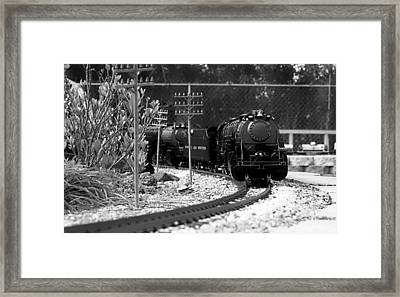 Model Locomotive Framed Print by Debra Forand