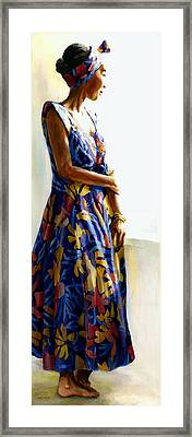 Model Repose II Framed Print by Carolyn Epperly
