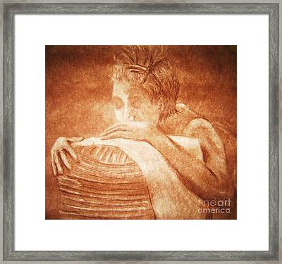 Model Resting Framed Print by Reb Frost