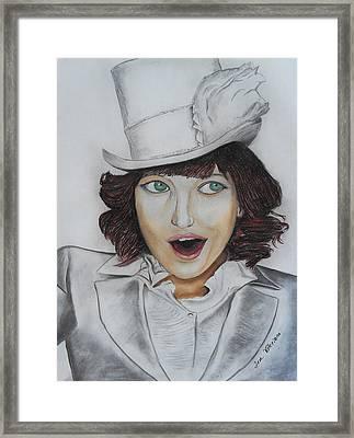 Model Smiling Framed Print