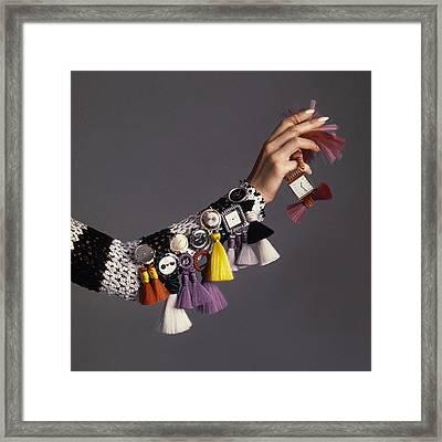 Model Sporting Wristwatches Framed Print by Bert Stern