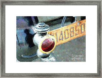 Model T Brake Light Framed Print