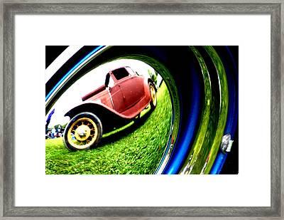 Model T In A Bubble Framed Print