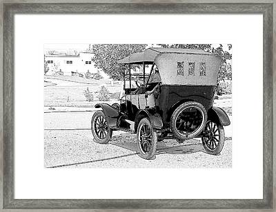 Framed Print featuring the photograph Model T by John Hix