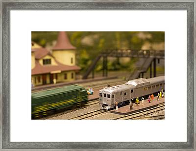 Framed Print featuring the photograph Model Trains by Patrice Zinck