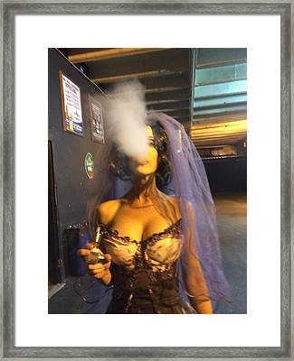Model Vaper Framed Print