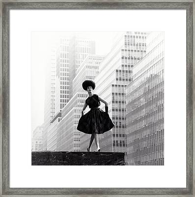 202f80c54a6 Model Wearing Lilly Dache Hat In New York City Framed Print by Horst P Horst
