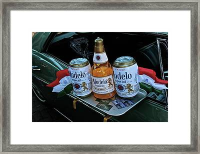 Modelo Curbside Framed Print by Gwyn Newcombe