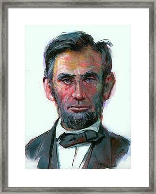 Modern Abe Framed Print