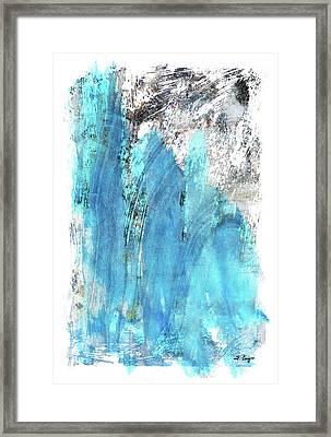 Modern Abstract Art - Blue Essence - Sharon Cummings Framed Print by Sharon Cummings