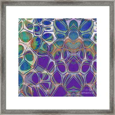 Modern Abstract Painting 17 Framed Print by Edward Fielding