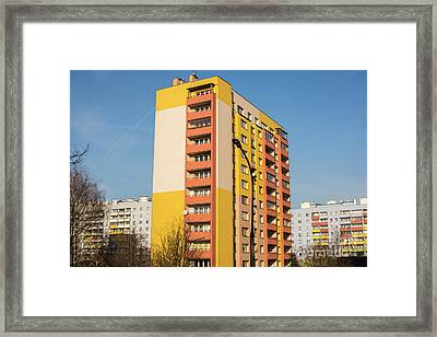 Framed Print featuring the photograph Modern Apartment Buildings by Juli Scalzi
