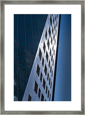 Framed Print featuring the photograph Blue Modern Apartment Building by John Williams