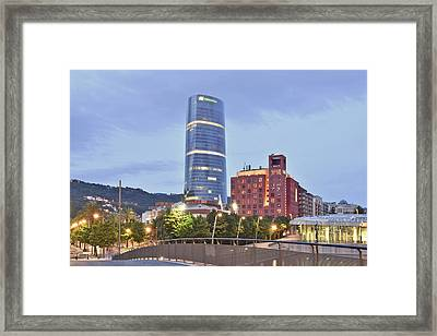 Modern Architecture Bilbao Spain Framed Print by Marek Stepan