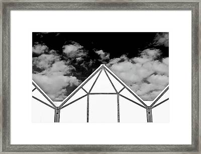 Modern Architecture Pattern  Framed Print by Tom Gowanlock