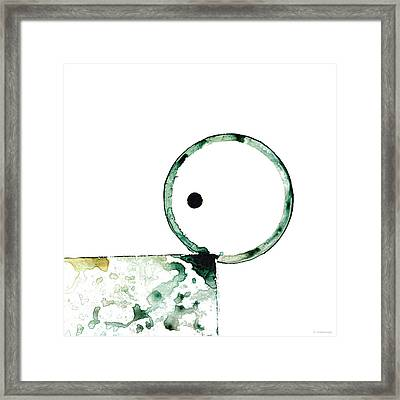Modern Art - Balancing Act 2 - Sharon Cummings Framed Print by Sharon Cummings