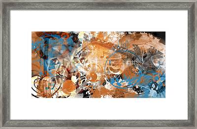 Modern-art Beyond Control II Framed Print by Melanie Viola