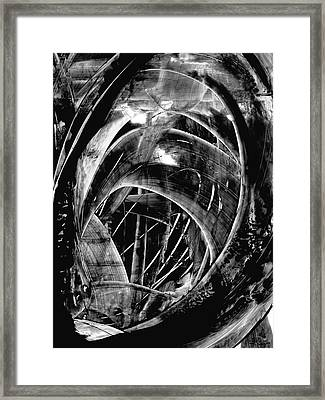 Modern Art - Black Embers 1 - Sharon Cummings Framed Print