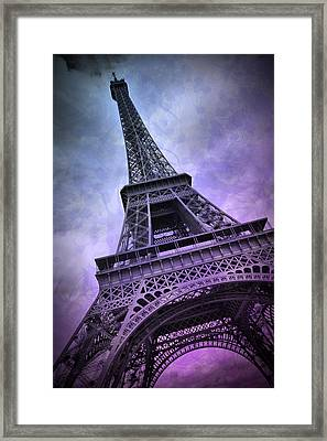 Modern Art Paris Eiffel Tower  Framed Print by Melanie Viola