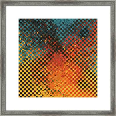 Modern Art - Pieces 14 - Sharon Cummings Framed Print
