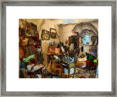 Modern Art Studio Framed Print