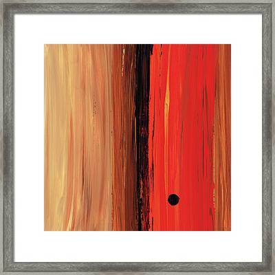 Modern Art - The Power Of One Panel 1 - Sharon Cummings Framed Print