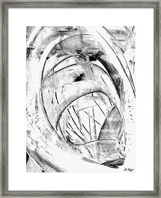 Modern Art - White Embers 1 - Sharon Cummings Framed Print by Sharon Cummings
