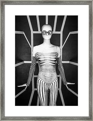 Modern Black And White Framed Print by Scott Meyer