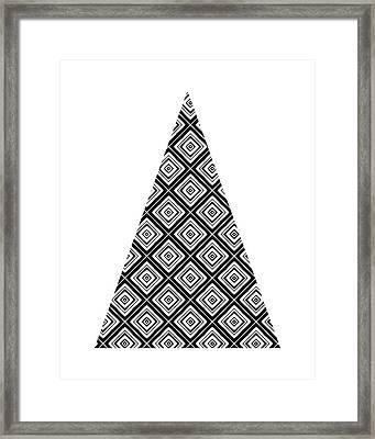 Modern Black And White Tree 1- Art By Linda Woods Framed Print
