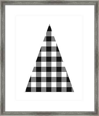 Modern Black And White Tree 2- Art By Linda Woods Framed Print