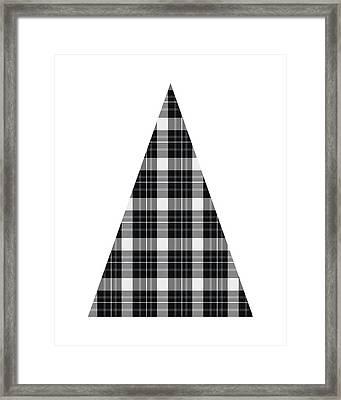 Modern Black And White Tree 3- Art By Linda Woods Framed Print