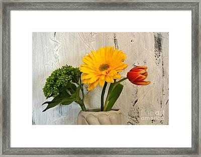 Framed Print featuring the photograph Modern Bouquet by Marsha Heiken